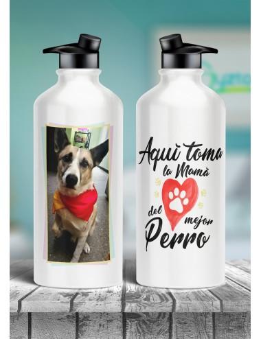 """Botella """"La mamá del mejor perro"""""""