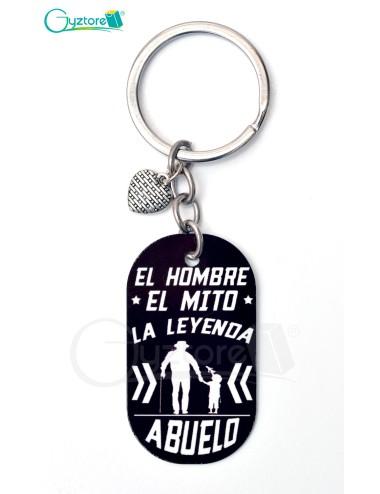 """Llavero """"El hombre, El mito, La leyenda"""""""