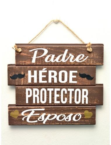"Cuadro artesanal ""Héroe, Protector"""