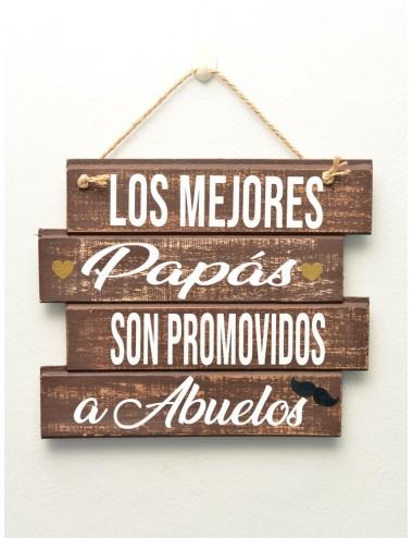 """Cuadro artesanal """"Los mejores papás"""""""