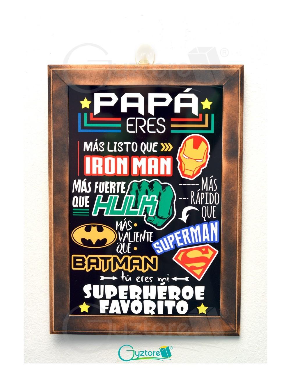 "Cuadro ""Papá mi Superhéroe favorito"""
