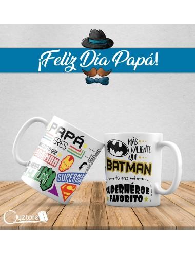 """Tazas para papás """"Papá tú eres mi superhéroe favorito"""""""