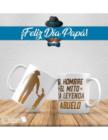 """Tazas para abuelitos """"El Hombre, El Mito, La leyenda"""""""