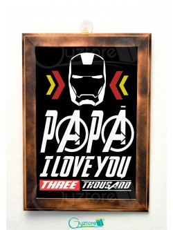 "Cuadro ""I love you three thousand"""