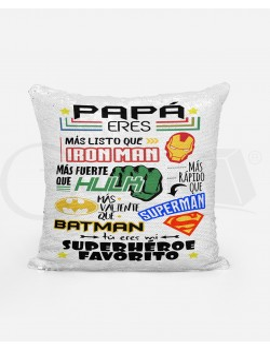 "Almohadón Mágico ""Papá eres mi SuperHéroe Favorito"""