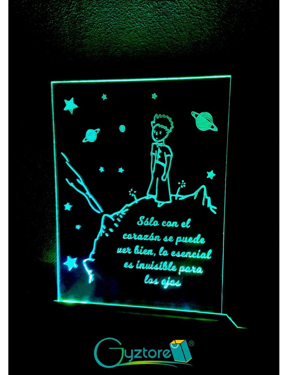 """Lámpara-Espejo LED decorativa diseño """"El Principito"""""""