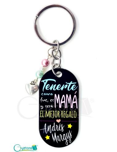 """Llavero Personalizable """"Mamá, El Mejor Regalo"""""""