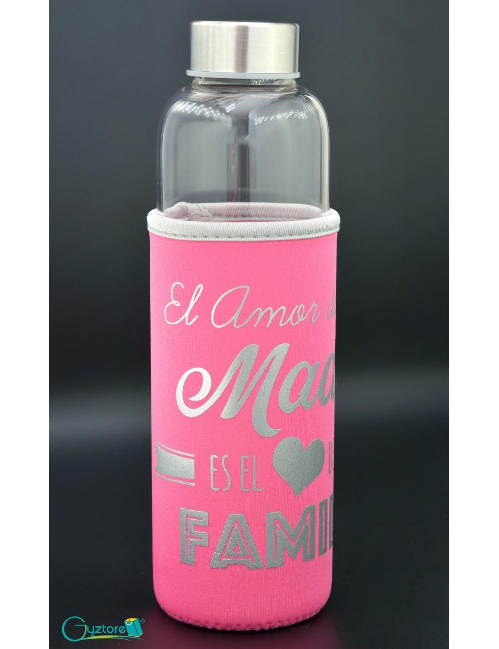 Botella de vidrio diseños para mamá