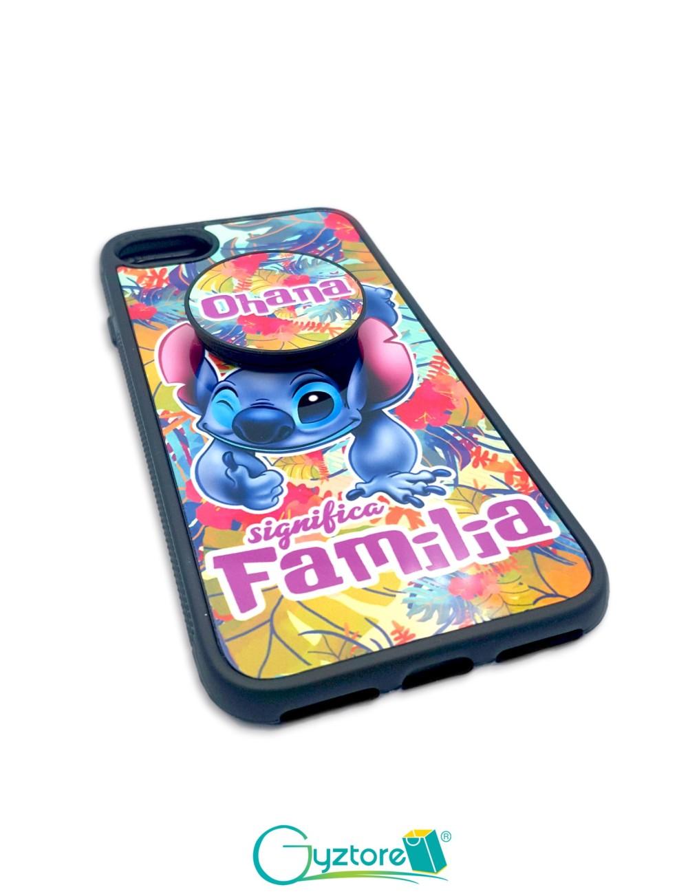 Estuche para celular diseño Stitch