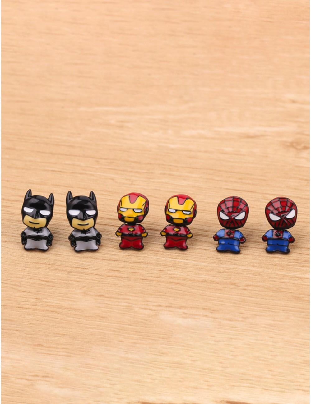Aretes Superheroes
