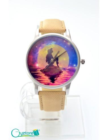 Reloj diseño de la Sirenita con faja beige