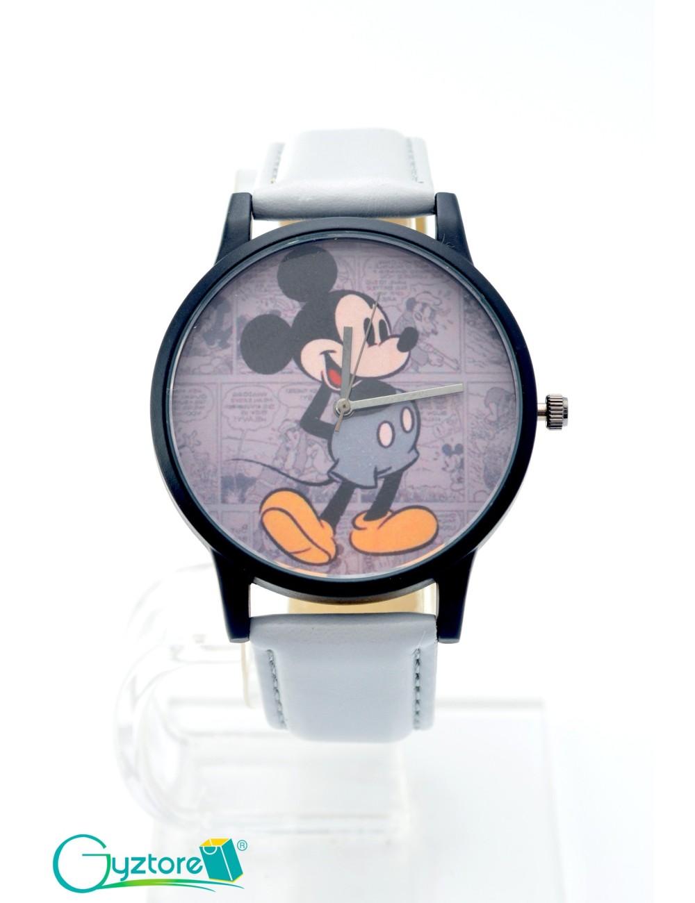 Reloj diseño de Mickey con faja gris