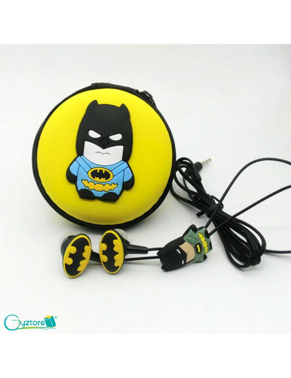 Audífonos con estuche diseño de Superhéroes