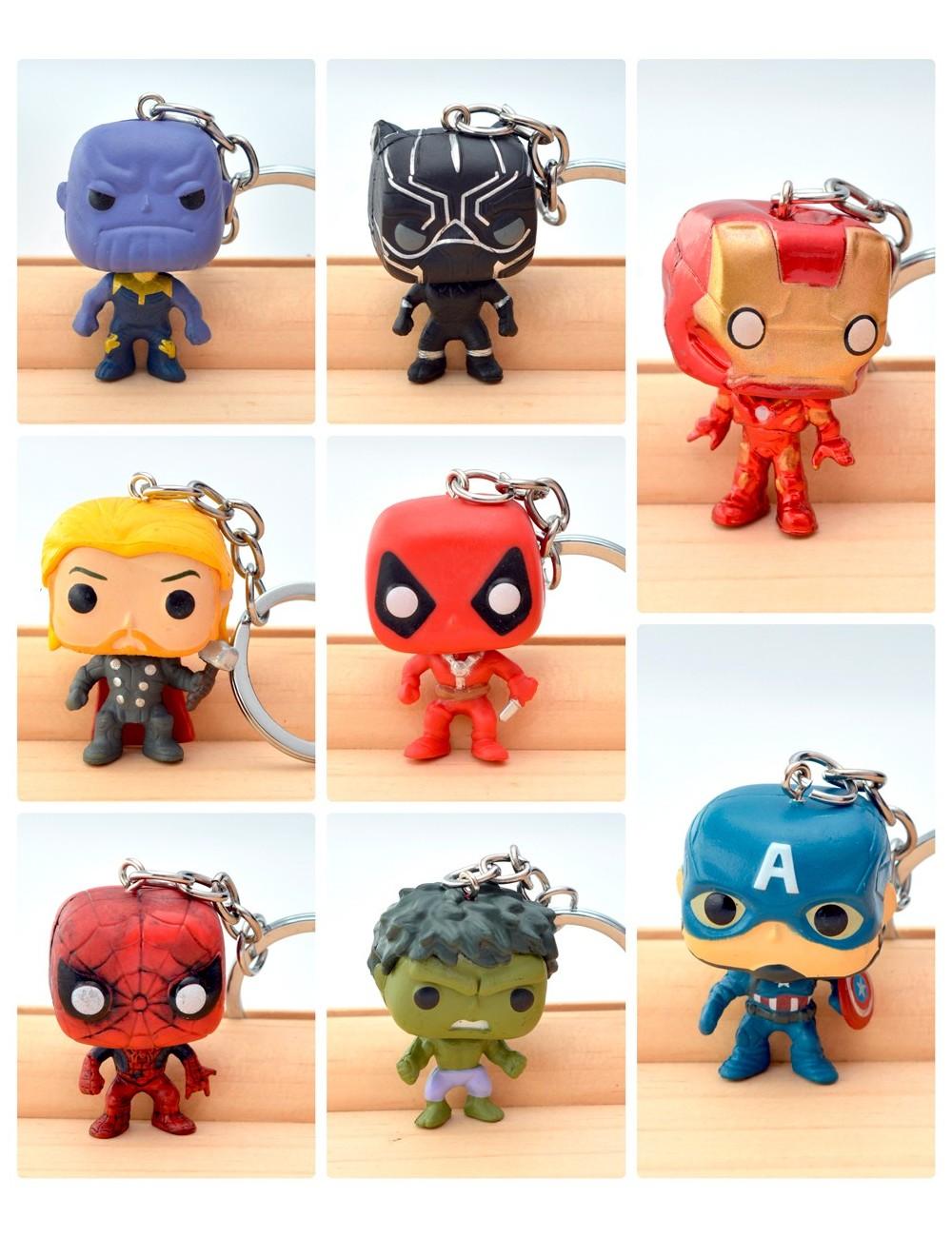 Llaveros de superhéroes