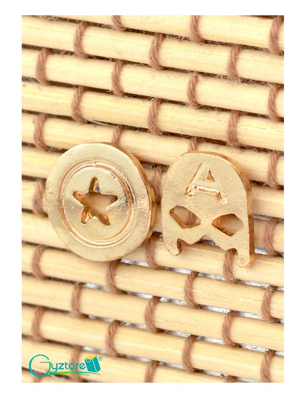 Aretes diseño de Capitan America