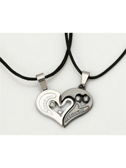 Collar para pareja I love you