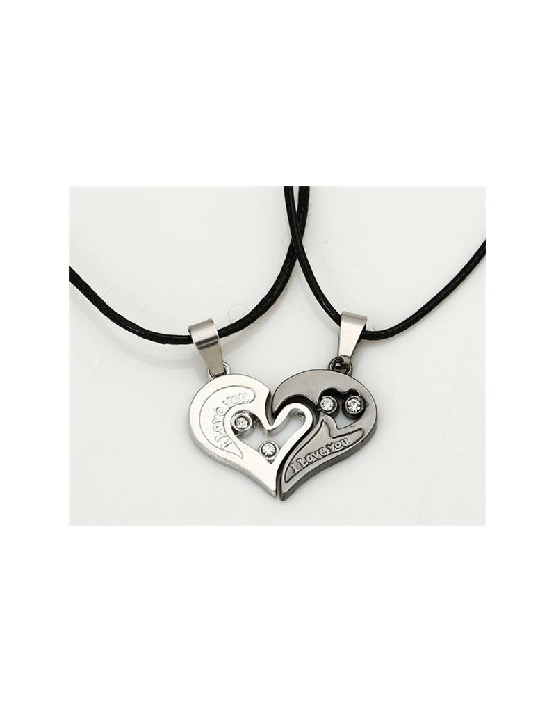 distribuidor mayorista df2a9 6c7ed Collar para pareja I love you