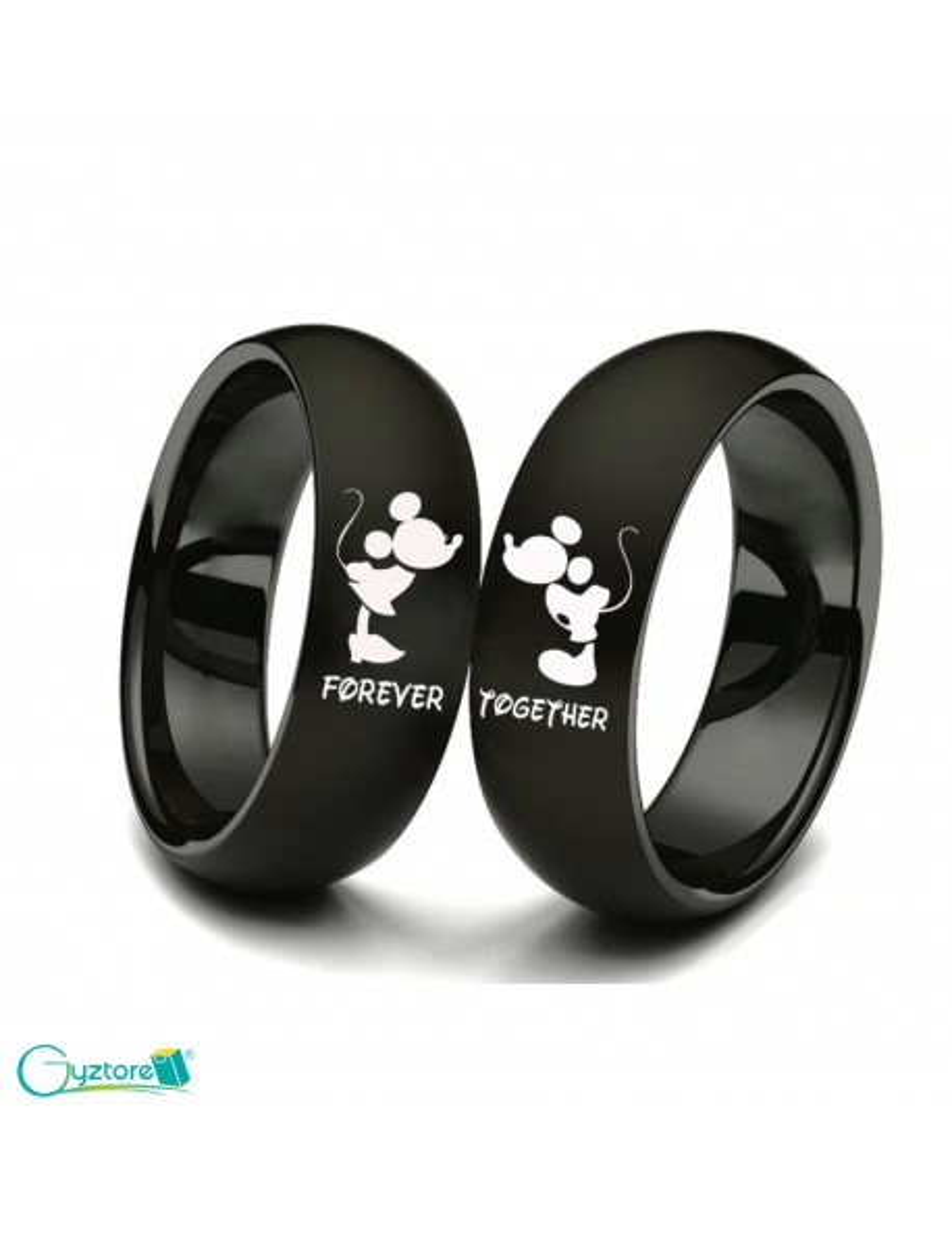 Anillos de Mickey & Minnie para parejas de acero inoxidable
