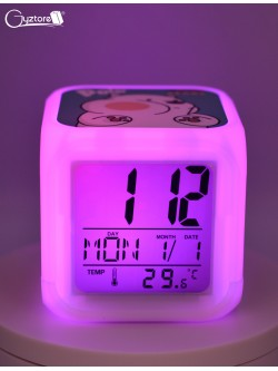 "Relojes digitales ""Osos escandalosos"" con LED multicolor"