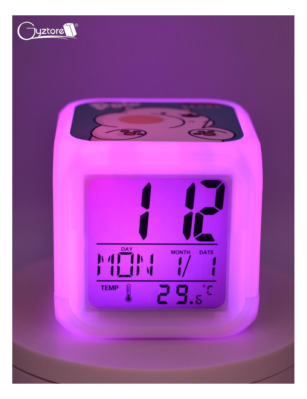 """Relojes digitales """"Osos escandalosos"""" con LED multicolor"""