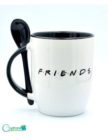"""Taza de cerámica con cuchara diseño """"Friends"""""""