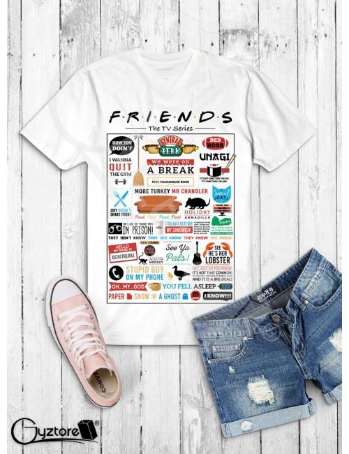 Camiseta Friends diseño infográfico