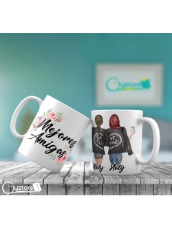 Taza personalizable diseño de Best Friends
