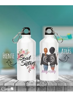 Botella personalizable diseño de Best Friends