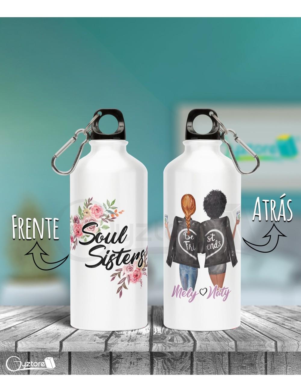 Botella personalizable diseño de Best Friends