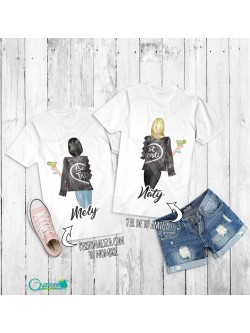 Camisetas personalizables con diseño de Best Friends