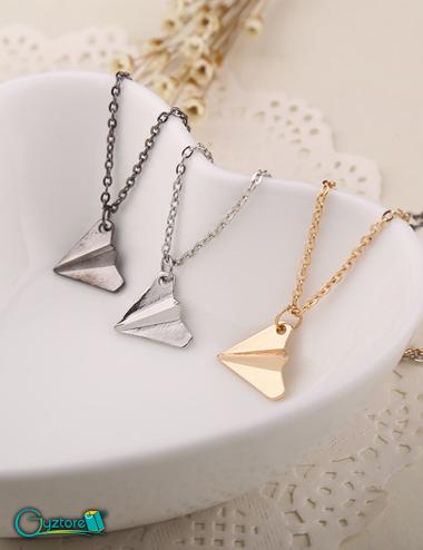 Collar Origami Aviones de papel