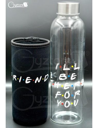 Botella de vidrio diseño de Friends