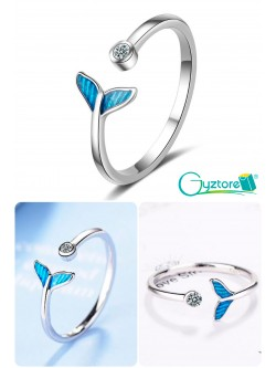 Anillo ajustable cola de sirena con brillante