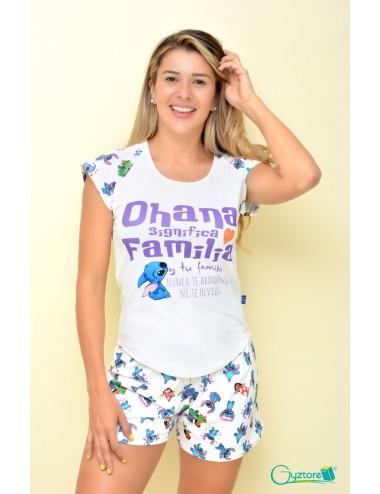"Pijamas Stitch ""Ohana significa familia"""