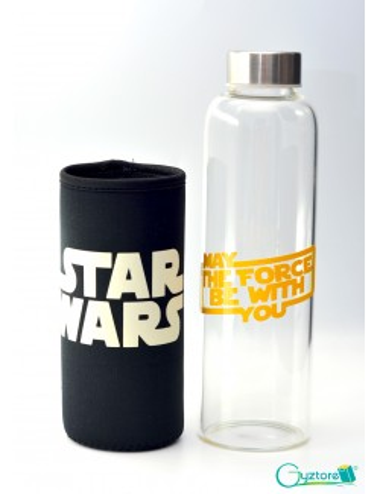 Botella de vidrio diseño de StarWars