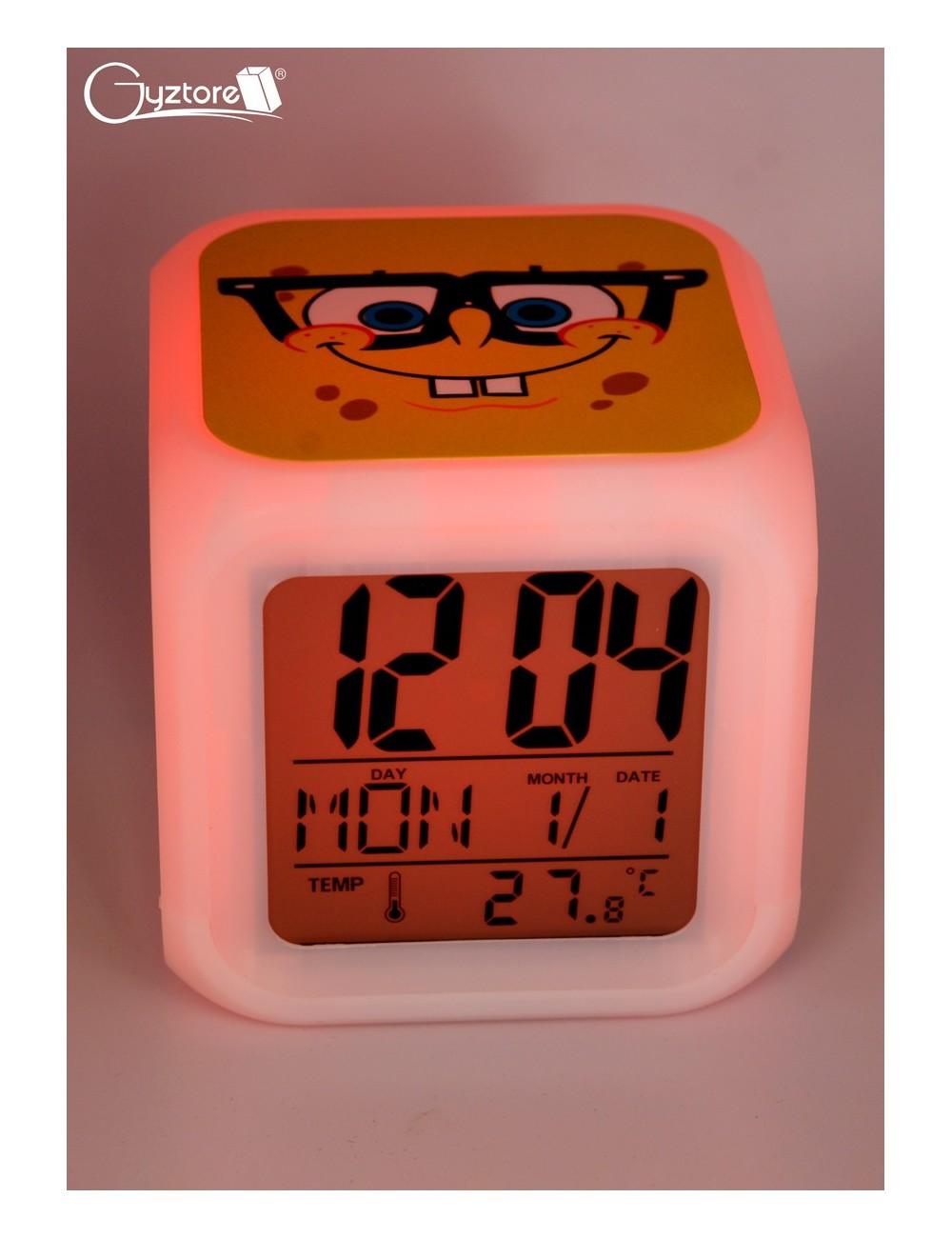 """Relojes digitales """"Bob Esponja"""" con LED multicolor"""