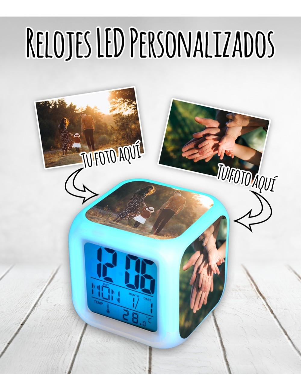 Relojes personalizados digitales con LED multicolor