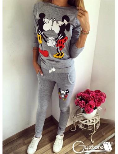 Pijama Larga de Mickey Mouse Gris