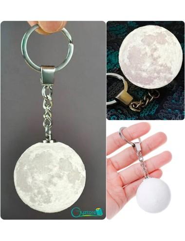Llavero LED de luna realista