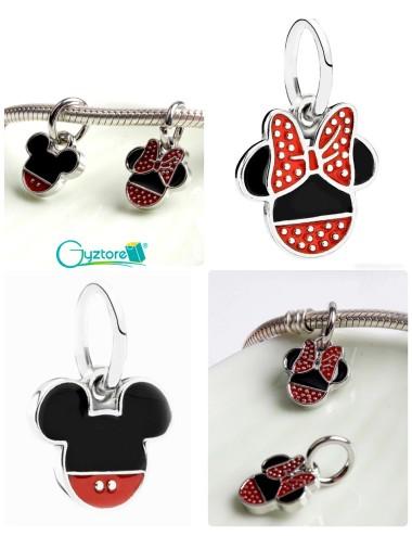 Dije diseño de Mickey y Minnie