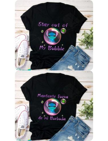 Blusa Stitch Mantente fuera de mi burbuja