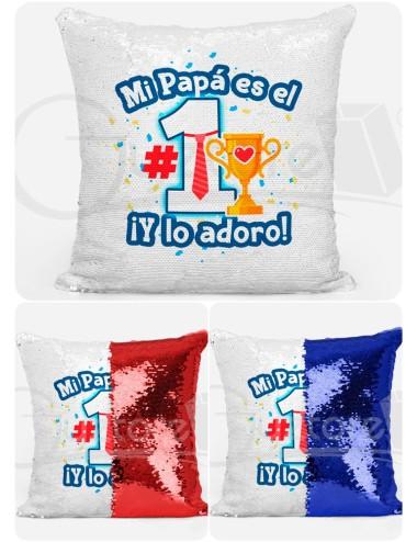 """Almohadón Mágico """"Papá es el número 1"""""""