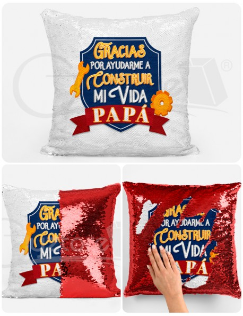 """Almohadón Mágico """"Papá te quiero hasta el infinito"""""""