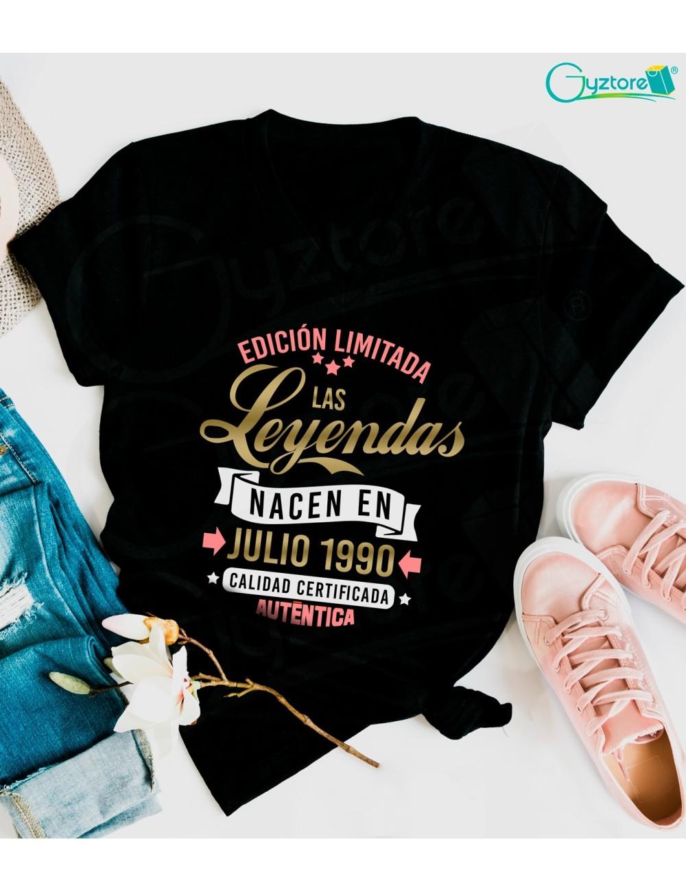 Camisetas cumpleañeras ''Las Leyendas Nacen''