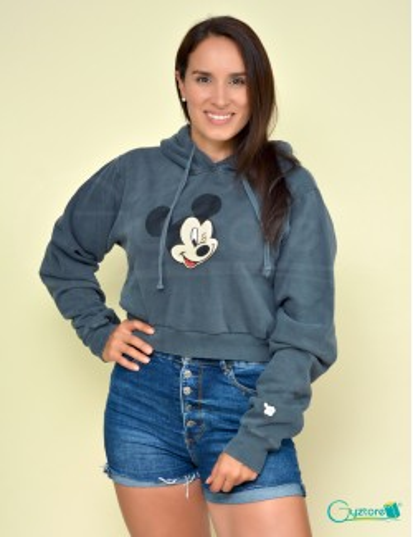 Hoodies/Abrigos cortos con gorro diseño de Mickey