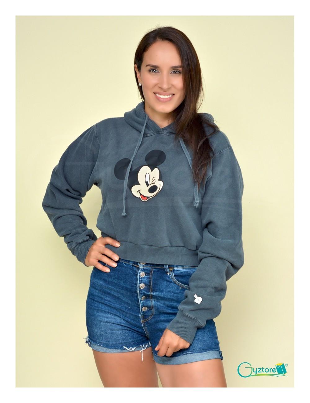 Hoodies cortos con gorro diseño de Mickey