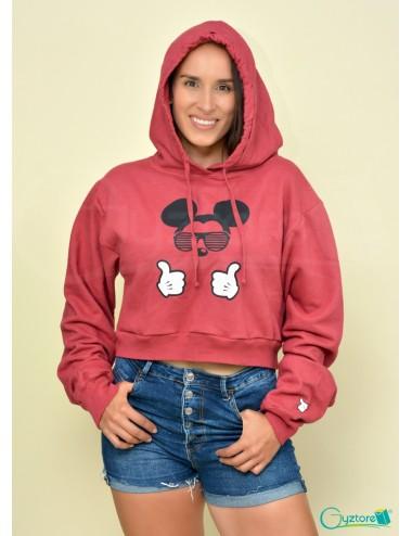 Hoodies/Abrigos cortos con gorro diseño Mickey con lentes