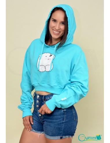 Hoodies/Abrigos cortos con gorro diseño Polar Osos Escandalosos