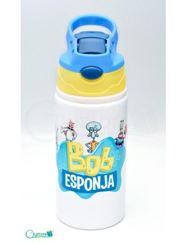 Botella Bob Esponja con pajilla