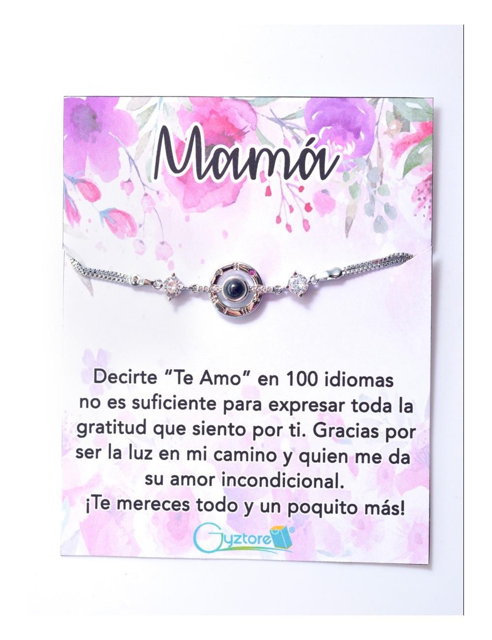"""Pulseras para Mamá """"Te amo en 100 idiomas"""""""